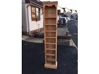 Pine Tall CD/DVD Storage Unit
