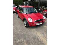 Mini one, chilli red, 53 plate, 2003, petrol 1.6, manual, 64'000 miles, 12 months MOT/ no advisories