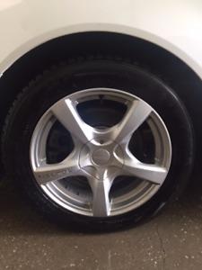 4 Touken RIMS + Winter Tires 225/55/R17 EXCELLENT CONDITION
