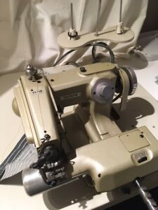 Industrial machine blind stitch/Machine a points invisibles.