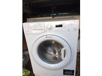 £98.00 Hotpoint washing machine+8kg+1400 spin+3 months warranty for £98.00