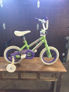 Small bike with training wheels - like new condition