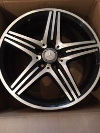 Alloys - Mercedes AMG. Genuine Diamond Cut Alloys. 4 x 18 inch alloys