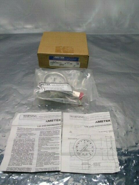 AMETEK U.S. IPS-200-24SG FT1 Gauge, 30-0-200, LMF, Size 2, 409580