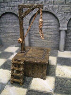 3 piece Hangman's Gallows Thomarillion Unpainted Resin Dwarven Forge D&D