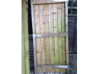 2 side gates in treated timber