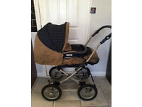Mamas and Papas 2 in 1 pram with bag and rain cover