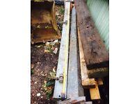 10ft steel gate posts 250mm