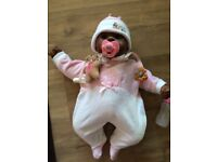 CHOU CHOU ETHNIC DOLL WITH HER CLOTHES, TEDDY, DUMMY & CLIP AND BOTTLE