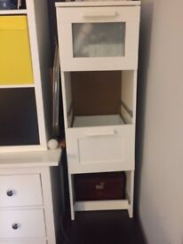 chest of drawers - slim fit - white