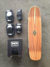 Arbor Hybrid Koa Longboard with Bern Helmet & TSG Pads Albert Park Port Phillip Preview