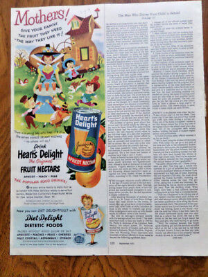 1951 diet-Delight Brand Dietetic Foods Ad  Apricot Nectar