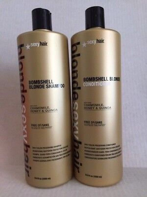 (Sexy Hair  Bombshell Blonde Shampoo/Conditioner 33 OZ for daily use unisex)