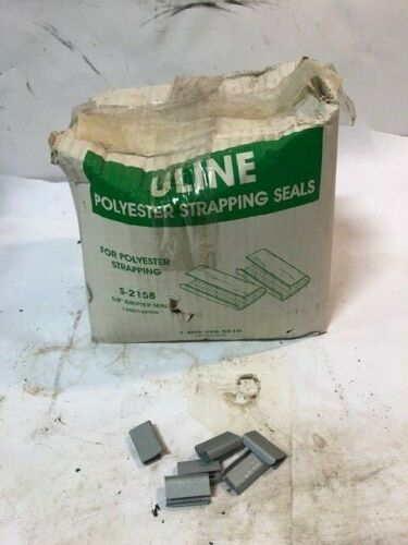 ULINE S-2158  5/8 Inch GRIPPER SEALS  Box of 1000 Polyester Strapping