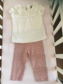 Baby girls leggings and top from next size 3-6 months