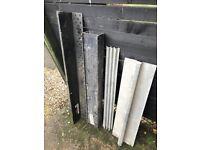 Four steel lintels for sale