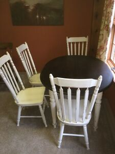 Country Table and 4 High Back Chairs