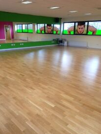 Spacious Dance/ fitness studios to rent. suitable for various uses