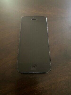 Apple iPhone 5 - 16GB - Black & Slate (Unlocked) A1428 (GSM) Dim Display