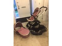 iCandy Peach Pushchair, CarryCot Set, Car Seat & Isofix base