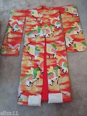 Кимоно из Азии 1960s VINTAGE LINED