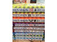 Wimpy Kid books by Jeff Kinney