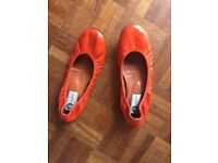 Lanvin orange ballet pumps size 38