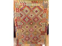 New Hand woven 100% woollen, new kilim tribal rug, size: 179x123 cm ( STK 453)