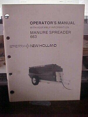 Om New Holland Manure Spreader 663  1h