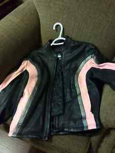 Woman's Leather Motorcycle Jacket (Medium/fits as a small) St. John's Newfoundland image 2
