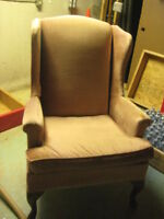 dusty rose antique chair