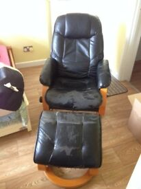 PCL Relaxation chair with footstool - WILL ACCEPT REASONABLE OFFERS