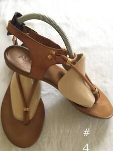 Aldo sandals light brown leather size 7.5 $25
