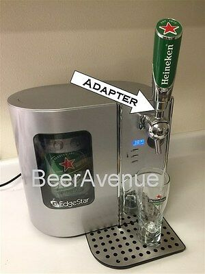 Heineken Avanti - EdgeStar mini keg Beer tap handle ADAPTER  **READ**