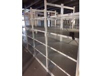 job lot 10 bays link 2.5m high industrial shelving (pallet racking, storage )