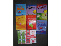 *Reduced to Clear* 10 x Letts / Collins / Leap Ahead, Maths and English, Step By Step/Revision Books