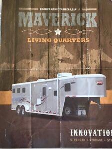 2011 Hoosier Triple Horse Trailer Maverick Living Quarters