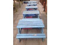 4 x School Garden Table/Benches