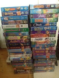 Great selection of Disney VHS tapes over 40!!