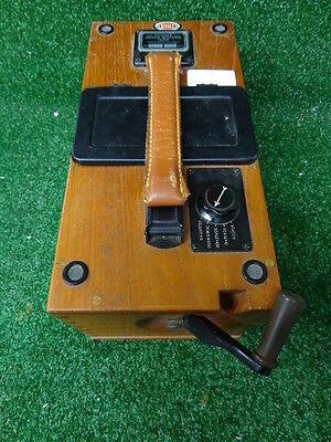 Biddle Megger Ground Resistance Wooden Tester Vintage 1942061 A24