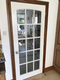 Internal wooden doors x12 (4 glazed). Excellent condition.