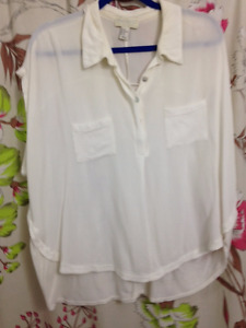 Forever 21 White Blouse size 3X