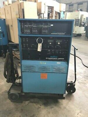 Miller 500 Amp Syncrowave 500 Acdc Tig Stick Welder Power Source Mounted Cart