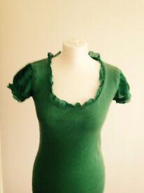 WHISTLES short sleeve green top