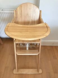 Wooden Folding Highchair (East Coast)