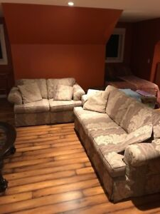 Love Seat and Chesterfield In New Condition