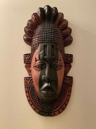 Carved Wooden African Mask - Nigeria