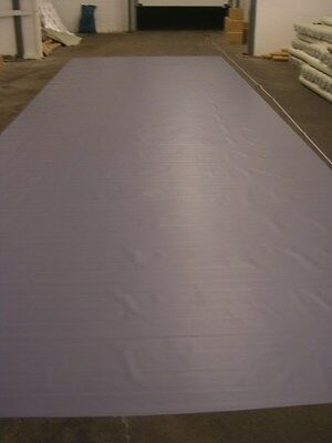 LKW Plane Abdeckplane PVC Gewebeplane:ca. 12,5 x 1,5 m, ca. 425 gr/m², Grau, NEU