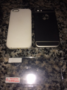 iPhone Quality Cases (2), PLUS Screen Protector (NEW & Like)