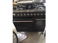 Britannia Grey Freestanding Gas/Electric Oven Five Burners 900